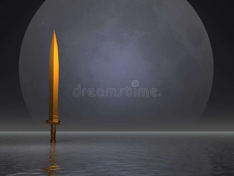 Espada dourada ilustração do vetor