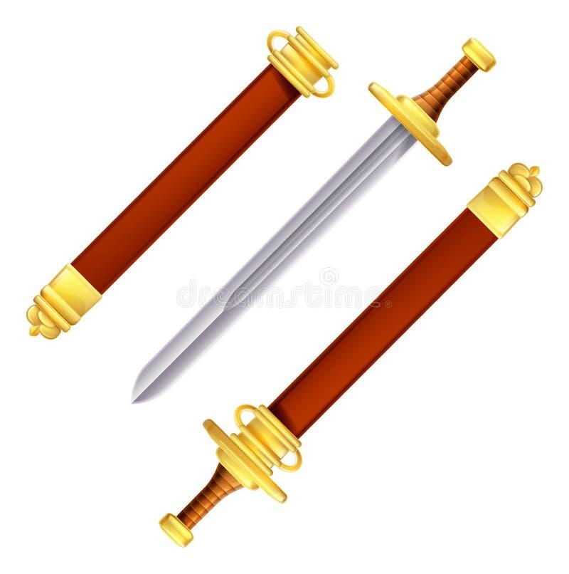 Espada e bainha ilustração do vetor