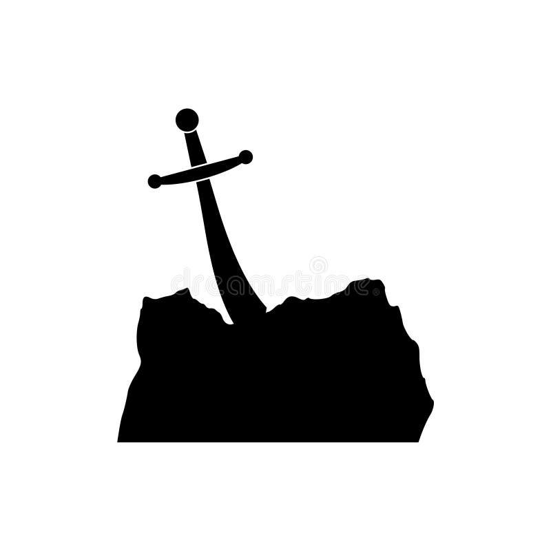 Espada en el icono de piedra libre illustration