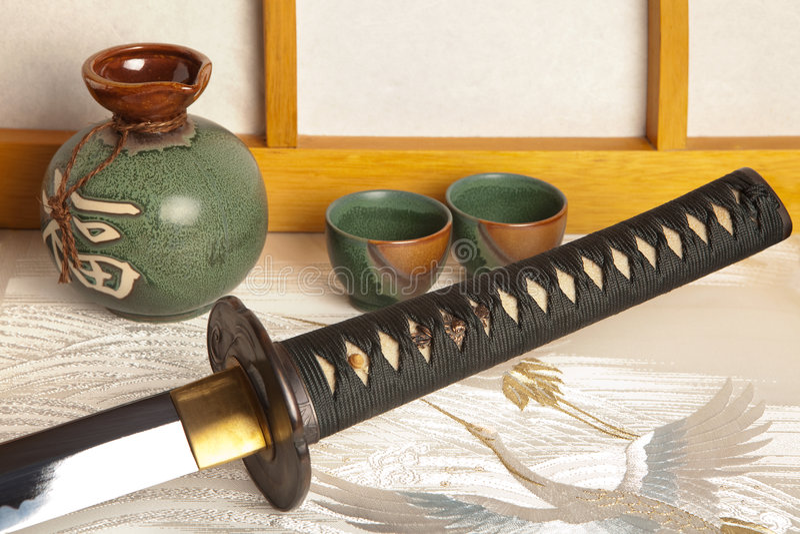 Espada japonesa imagens de stock royalty free