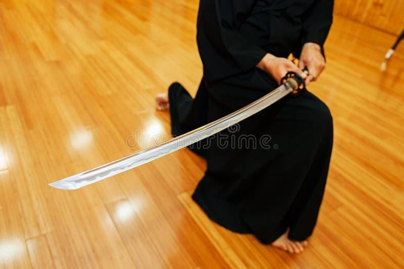 Espada japonesa do katana foto de stock