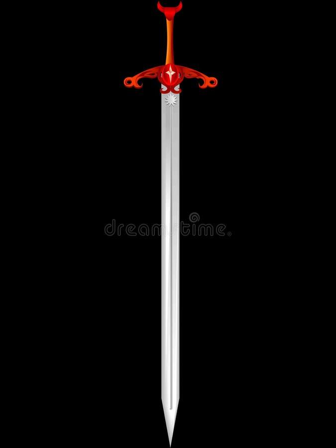 Espada Knightly ilustração stock