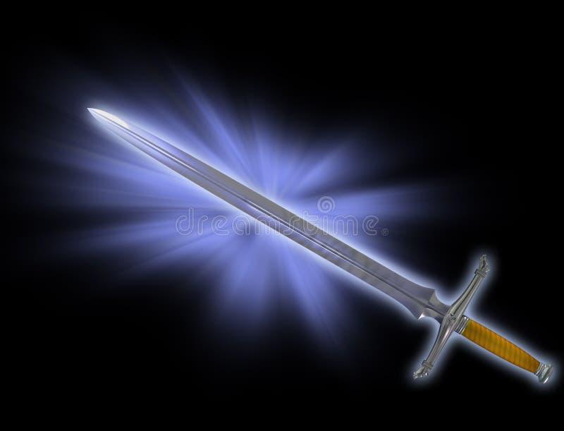 Espada mágica da batalha ilustração royalty free