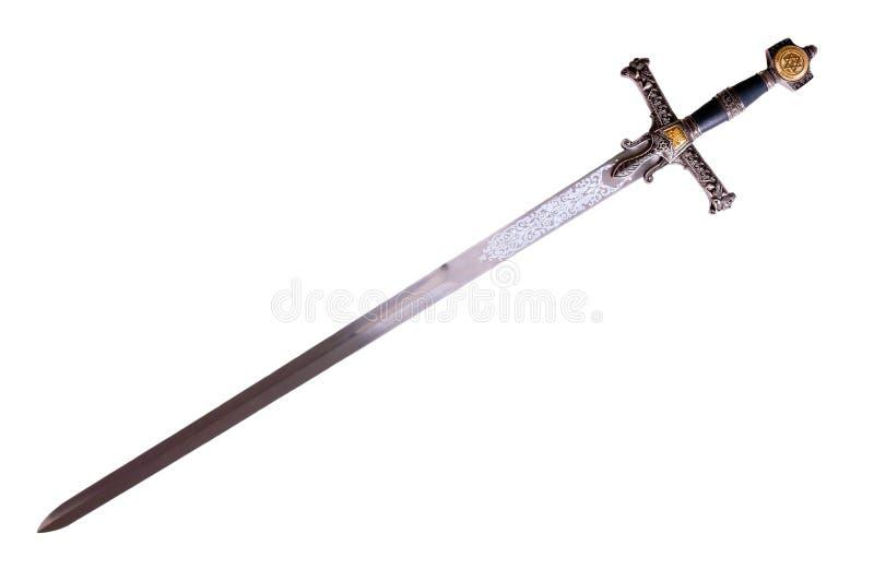 Espada medieval fotografía de archivo