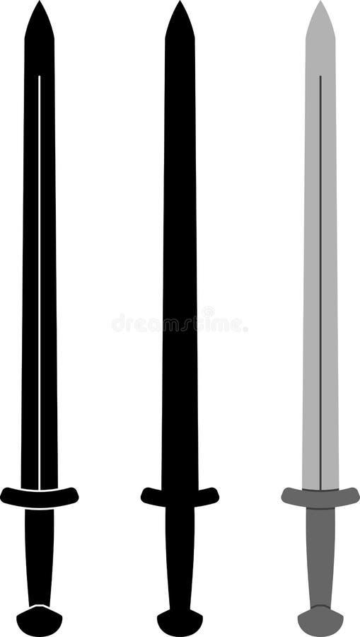Espada medieval ilustración del vector