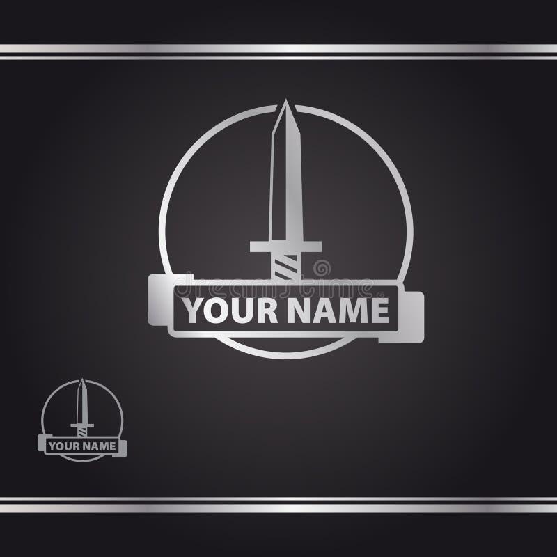 A espada no círculo foto de stock royalty free