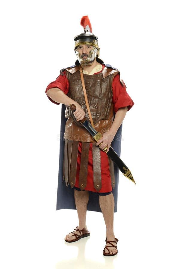 Espada romana del soldierwith fotografía de archivo