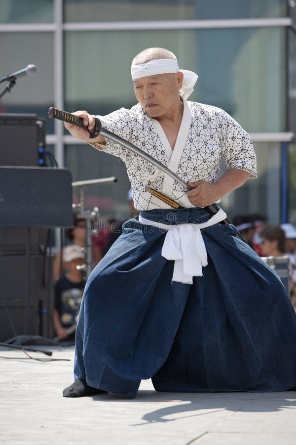 Espadachín de la semana de Nisei imagenes de archivo