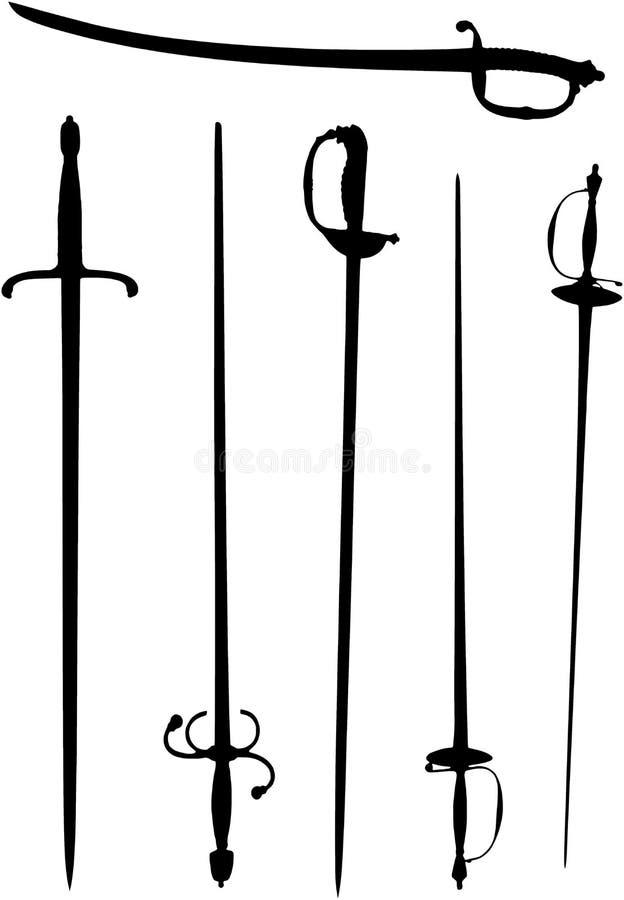 Espadas ilustración del vector