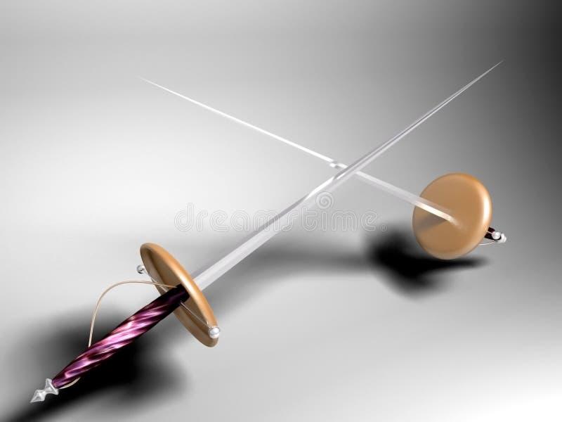 Espadas ilustração stock