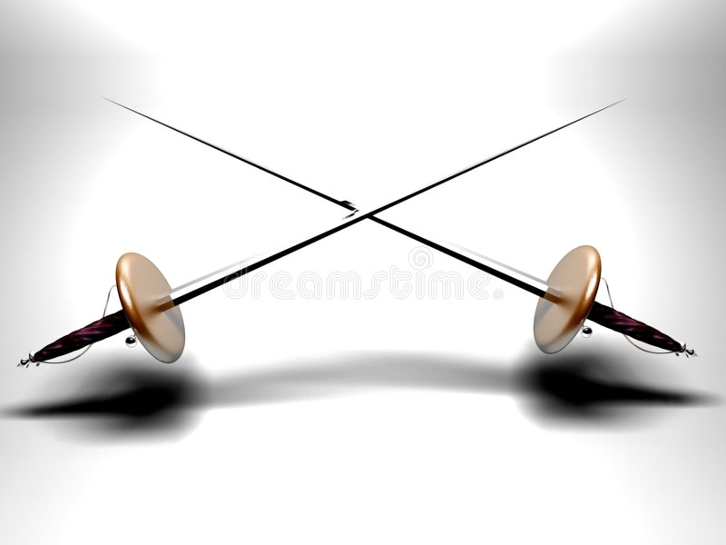 Espadas ilustração royalty free