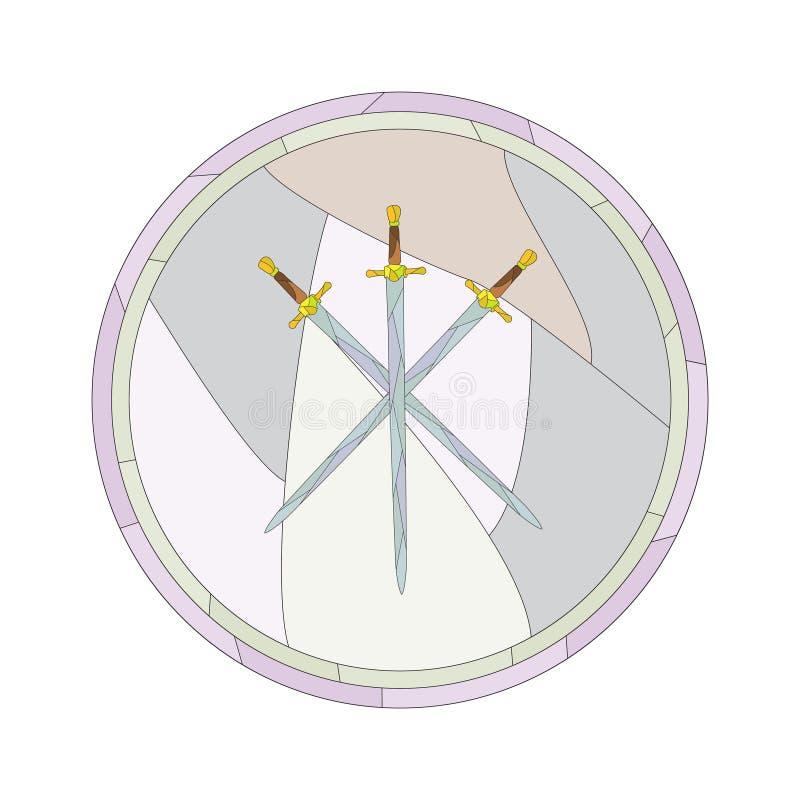 Espadas cruzadas imagem de stock
