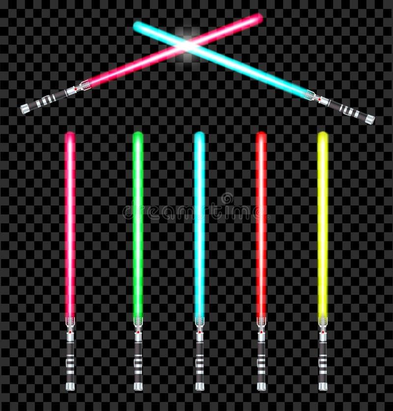 Espadas leves ilustração stock