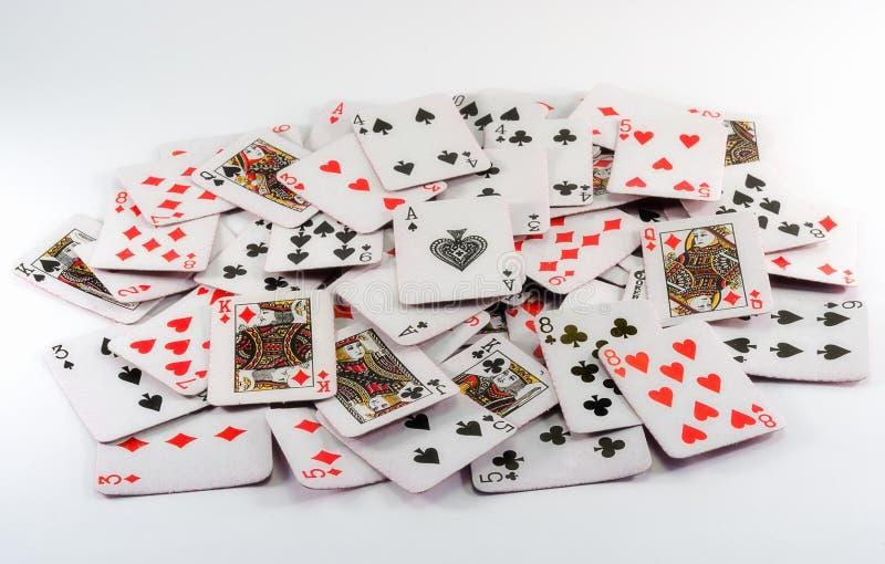 Espadas reales del flash del casino de las tarjetas que juegan foto de archivo libre de regalías