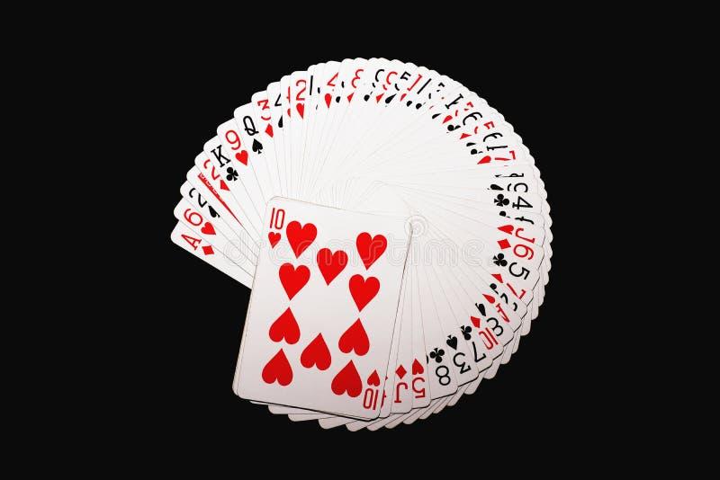Espadas reales del flash del casino de las tarjetas que juegan fotografía de archivo
