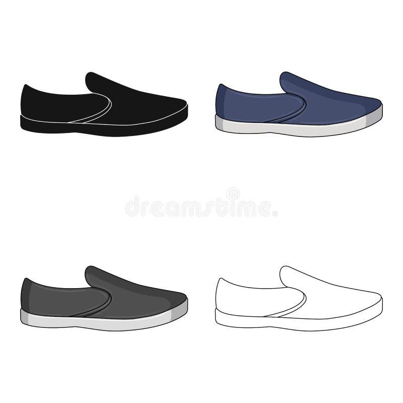 Espadrille blu di estate degli uomini Scarpe comode di estate sui piedi nudi per usura di ogni giorno Le scarpe differenti scelgo royalty illustrazione gratis