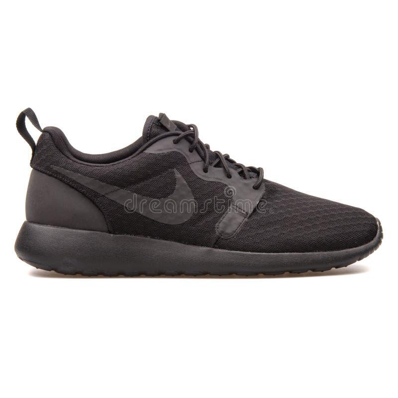 Espadrille de noir de Nike Roshe One Hyper photo libre de droits