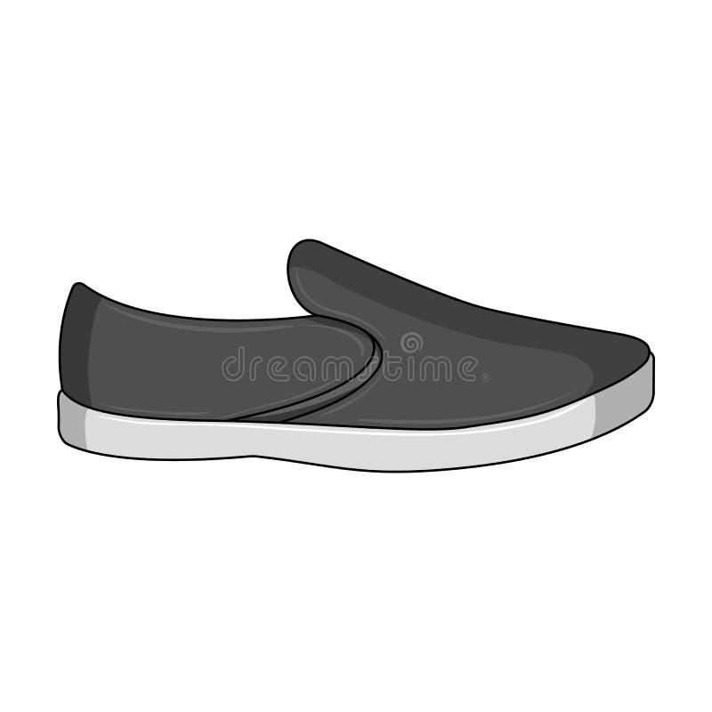 espadrilles d'été d'hommes Chaussures confortables d'été sur les pieds nus pour l'usage quotidien Les différentes chaussures choi illustration libre de droits