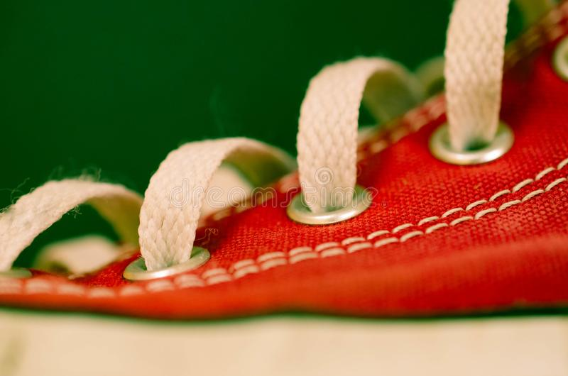Espadrilles rouges photographie stock