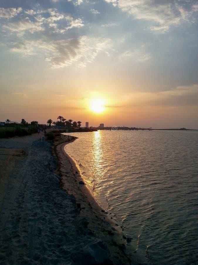 Espagne, Mar de Cristal, solnedgång royaltyfri bild