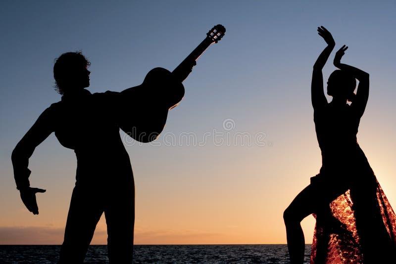 Espagnol de l'Espagne de flamenco de danseurs image libre de droits