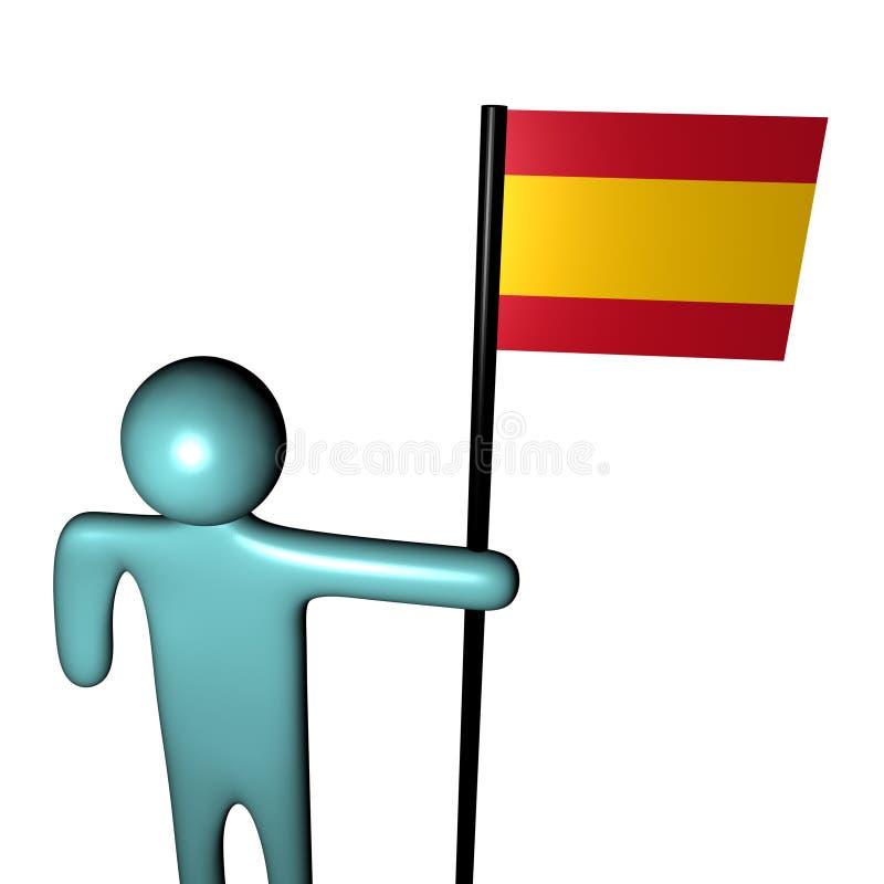 Espagnol de personne d'indicateur illustration stock