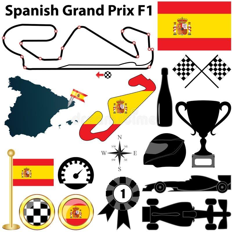 Espagnol Grand prix F1 illustration de vecteur