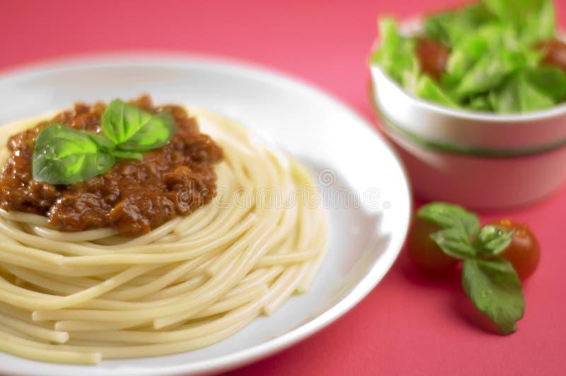 Espaguete bolonhês de Italy fotografia de stock