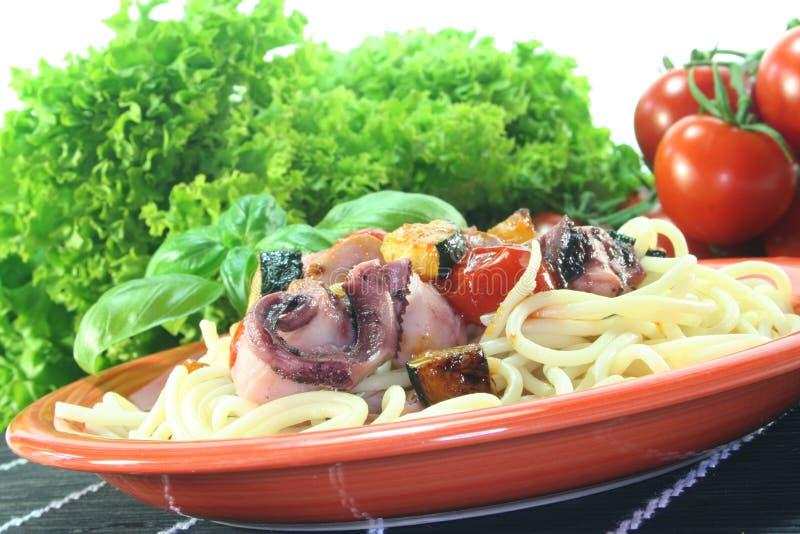 Espaguete com marisco imagem de stock royalty free