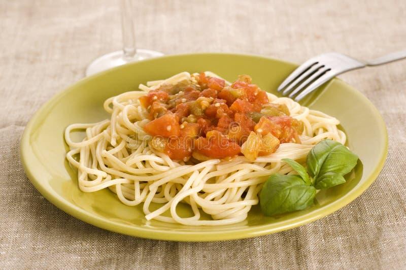 Espaguete com molho fotografia de stock royalty free