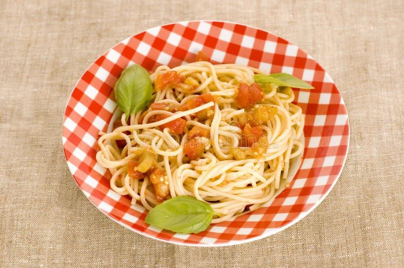 Espaguete com molho fotografia de stock