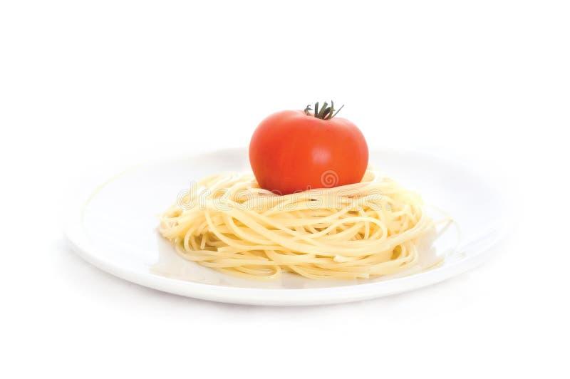 Espaguete com tomate imagens de stock royalty free