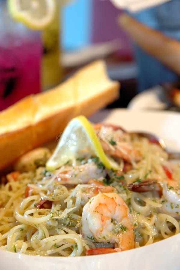 Espaguete do camarão imagens de stock royalty free