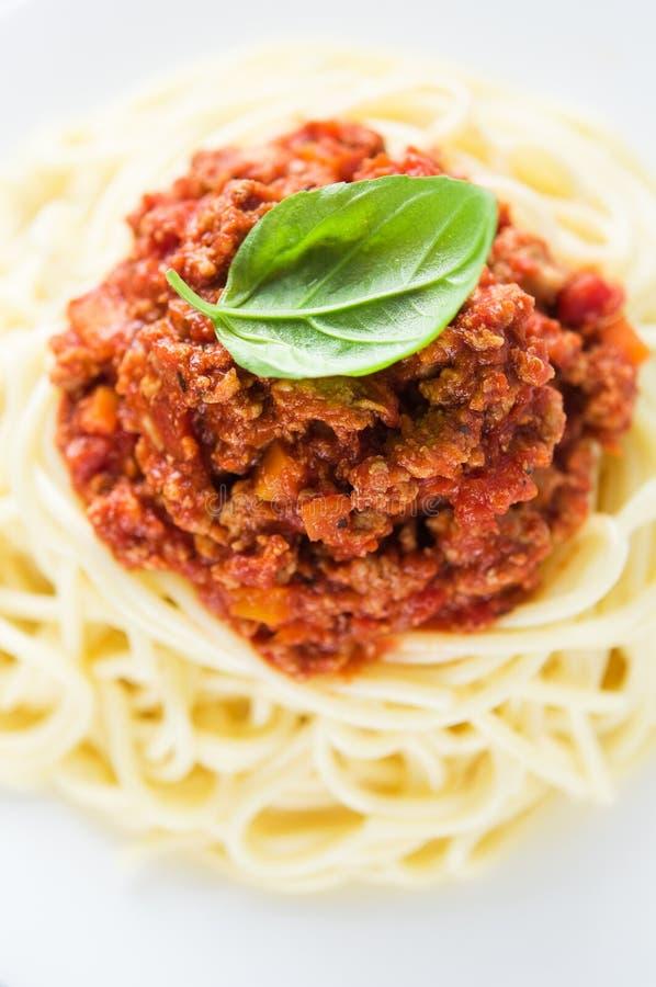Espaguetes bolonhês foto de stock royalty free
