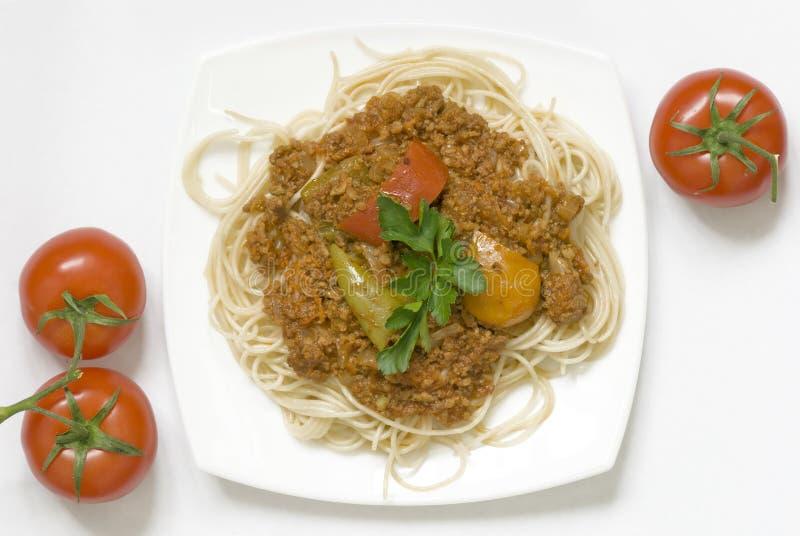 Download Espaguetes Com Molho Da Carne Foto de Stock - Imagem de saudável, italiano: 29845772