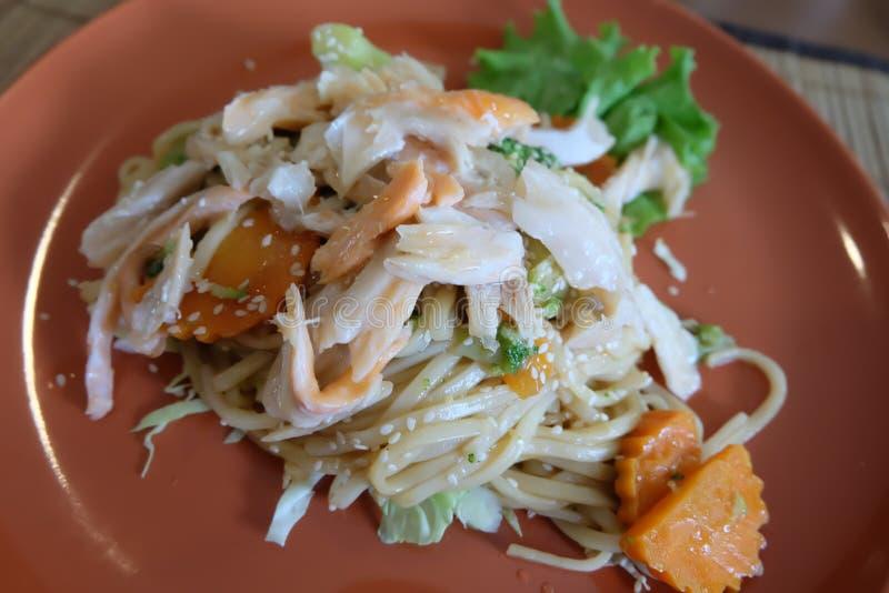 Espaguetes do caranguejo imagens de stock