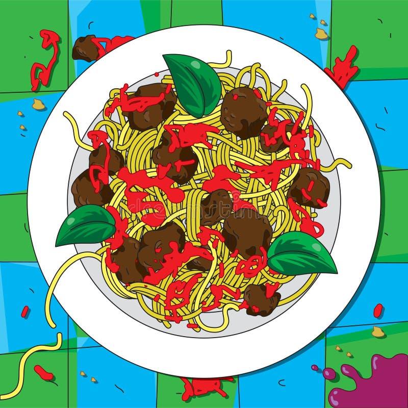 Espaguetes italianos foto de stock
