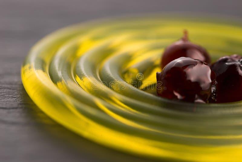 Espaguetes moleculars do fruto foto de stock royalty free