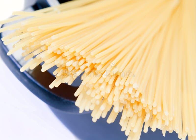 Espaguetes no potenciômetro imagem de stock royalty free