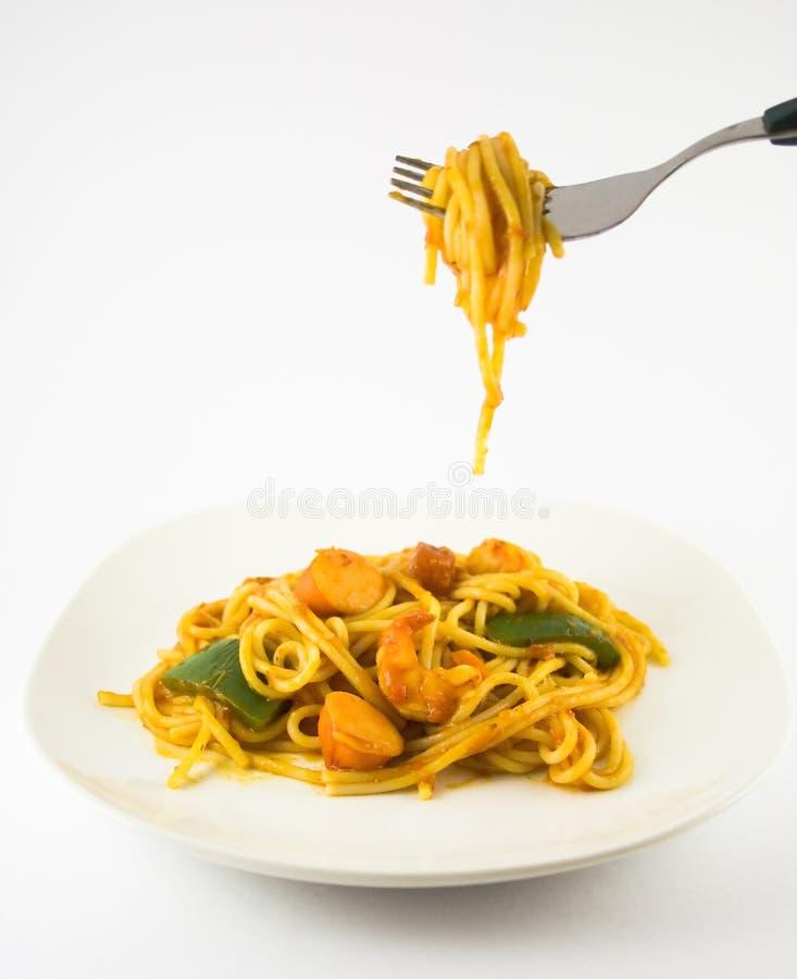Download Espagueti foto de archivo. Imagen de fork, cena, cocina - 1287298