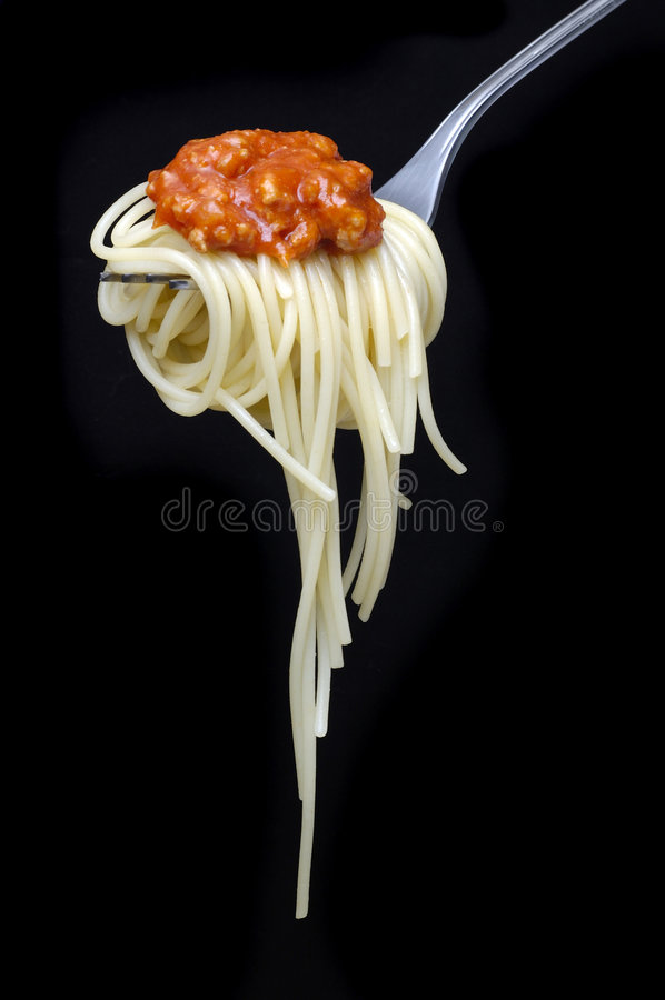 Espagueti Alla boloñés imagenes de archivo