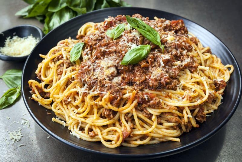 Espagueti boloñés imagen de archivo