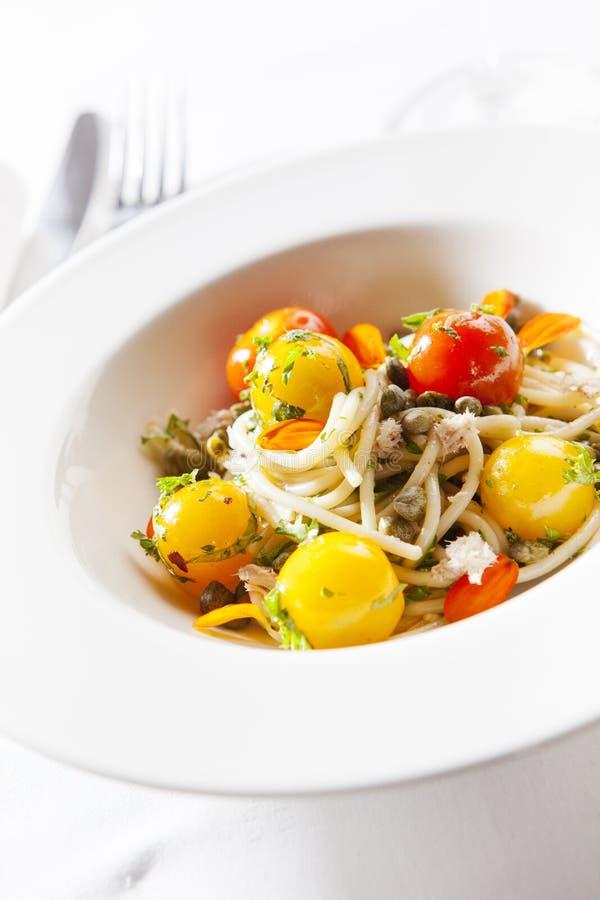 Espagueti del tomate imagenes de archivo