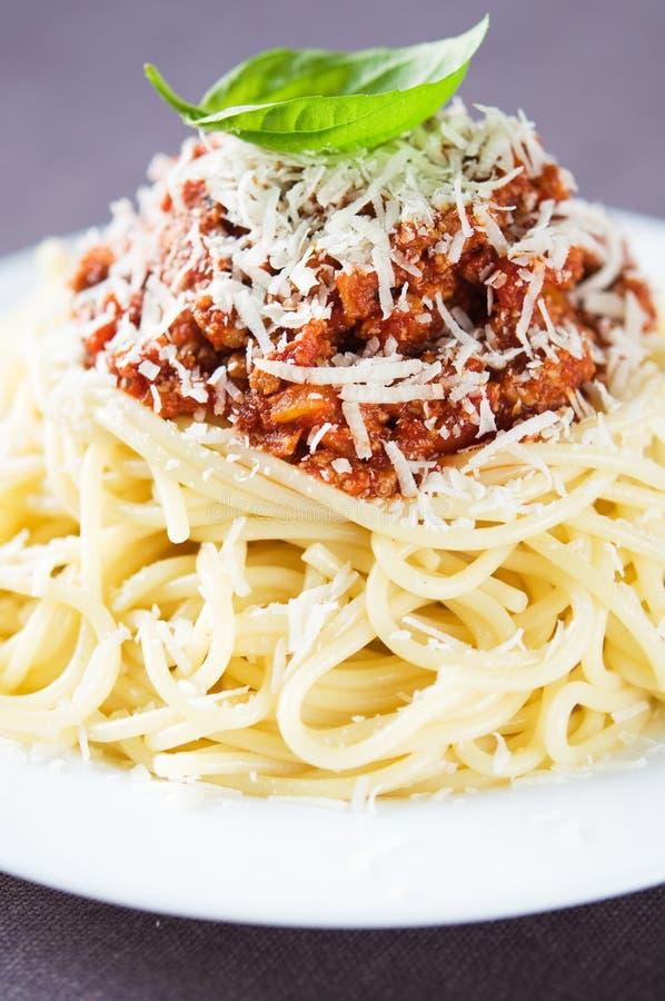 Espaguetis boloñés fotos de archivo libres de regalías