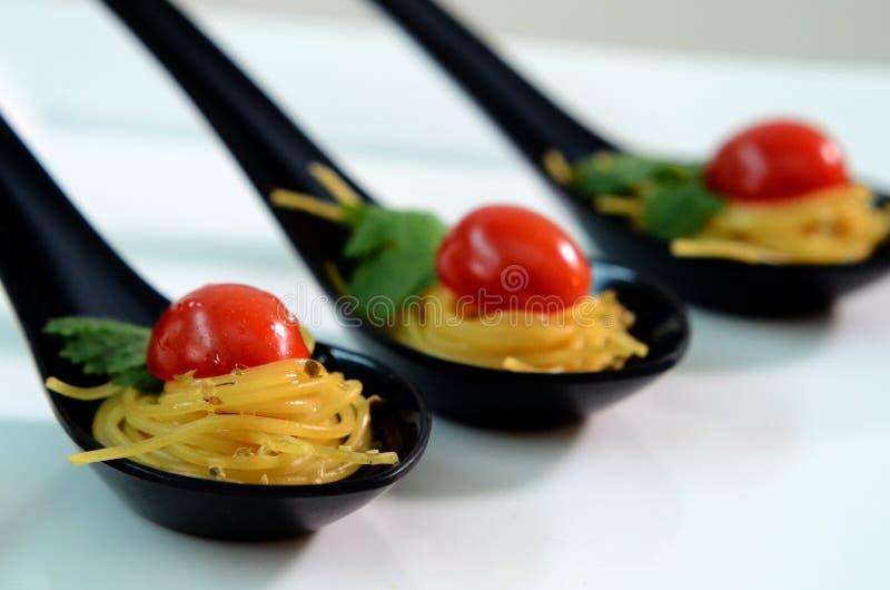 Espaguetis de cena finos imagen de archivo libre de regalías