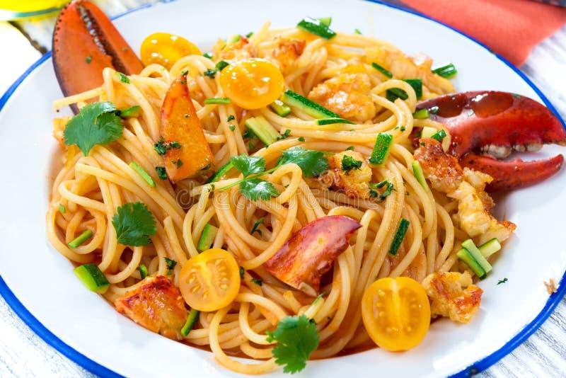 Espaguetis de la langosta fotografía de archivo