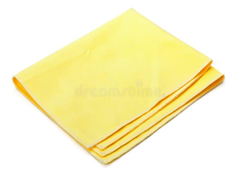 Espanador amarelo do microfiber imagens de stock