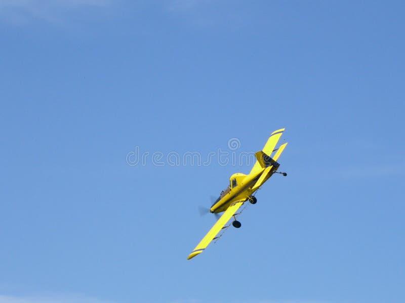 Espanador da colheita - avião imagem de stock royalty free