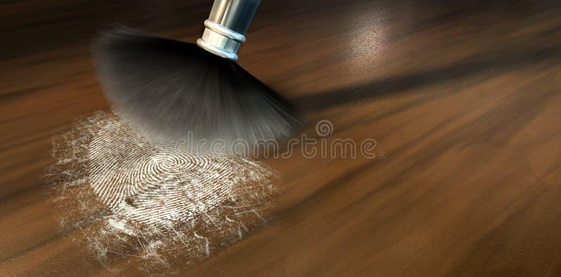 Espanar para impressões digitais na madeira foto de stock royalty free