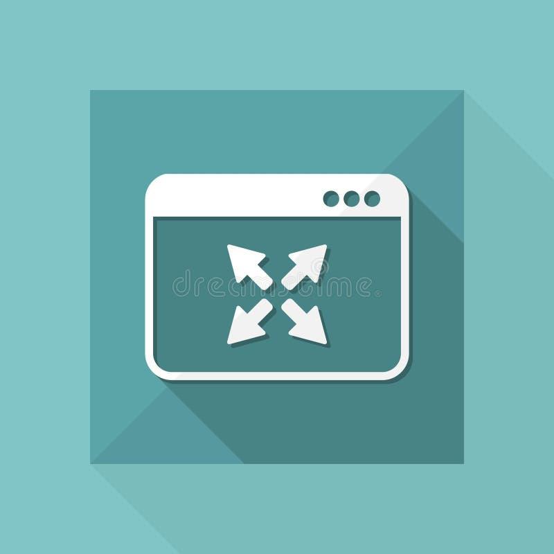 Espanda la finestra a schermo pieno - icona piana di vettore illustrazione vettoriale